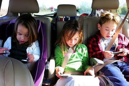Kids in back seat